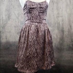 Material Girl Snakeskin skater dress